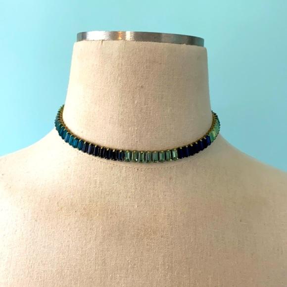 Banana Republic glass stone choker necklace